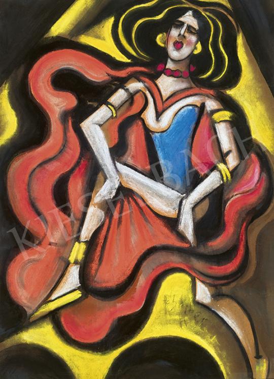 Scheiber Hugó - Táncosnő (Moulin Rouge) | 63. Téli Aukció aukció / 9 tétel