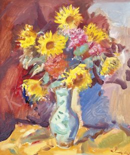 Márffy, Ödön - Still Life with Sunflowers