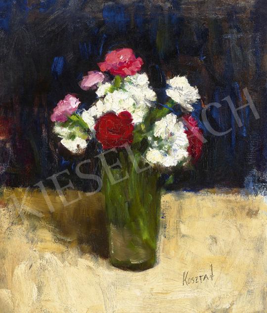 Koszta József - Virágcsendélet (Virágok a művész kertjéből), 1920-as évek | 63. Téli Aukció aukció / 16 tétel