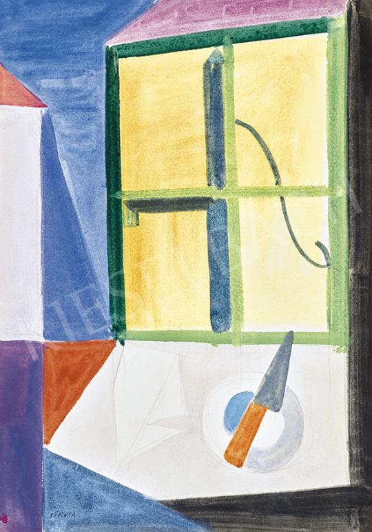 Sikuta Gusztáv - Hommage a Vajda (Szentendrei csendélet), 1960-as évek | 63. Téli Aukció aukció / 27 tétel