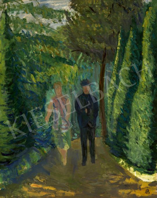 Bernáth Aurél - Séta a parkban (Pöstyén), 1936 | 63. Téli Aukció aukció / 28 tétel