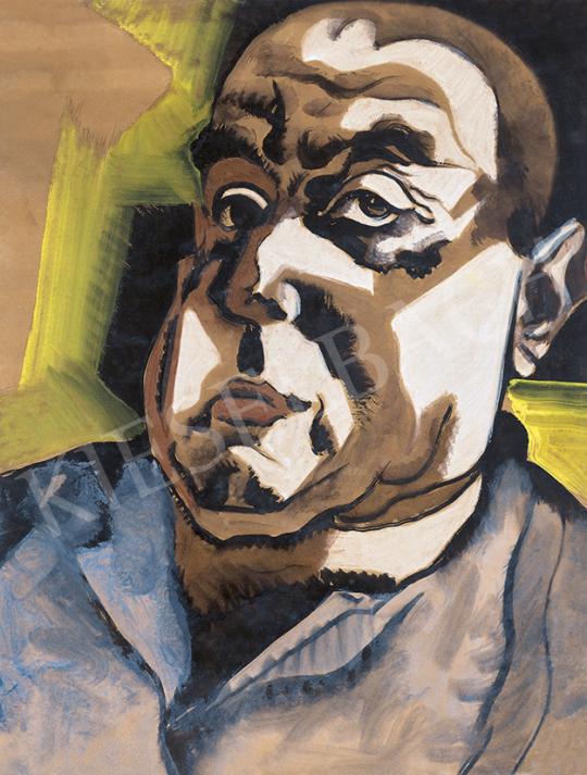 Scheiber Hugó - Önarckép, 1930-as évek | 63. Téli Aukció aukció / 32 tétel