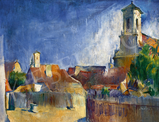 Onódi Béla - Szentendrei részlet, 1930 | 63. Téli Aukció aukció / 40 tétel