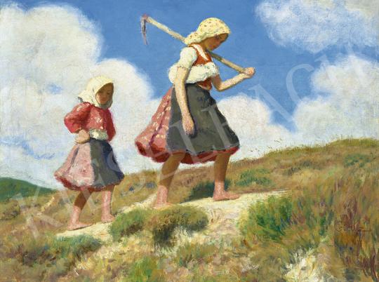 Glatz Oszkár - Kislányok napfényben | 63. Téli Aukció aukció / 46 tétel