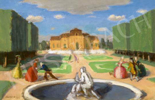 Fényes Adolf - Kastélypark (Fogócska), 1917 | 63. Téli Aukció aukció / 47 tétel
