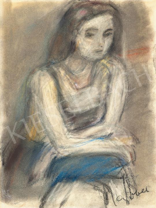Czóbel Béla - Párizsi modell | 63. Téli Aukció aukció / 51 tétel