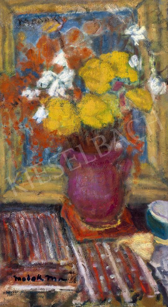 Modok Mária - Műtermi csendélet virágcsokorral | 63. Téli Aukció aukció / 52 tétel