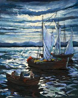 Corini Margit - Vitorlások a tengeren