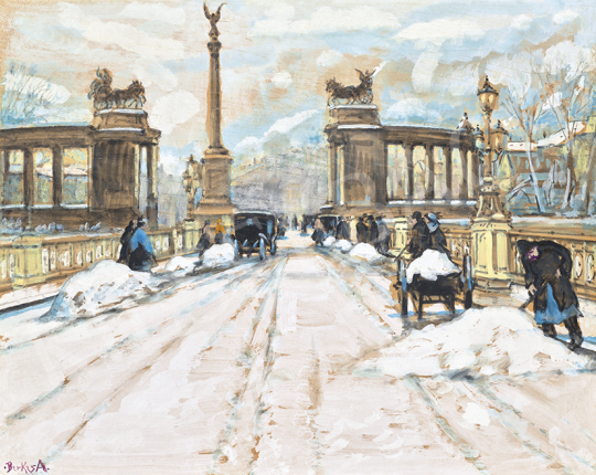 Berkes, Antal - Heroes Square in Winter | 63st Winter Auction auction / 64 Item