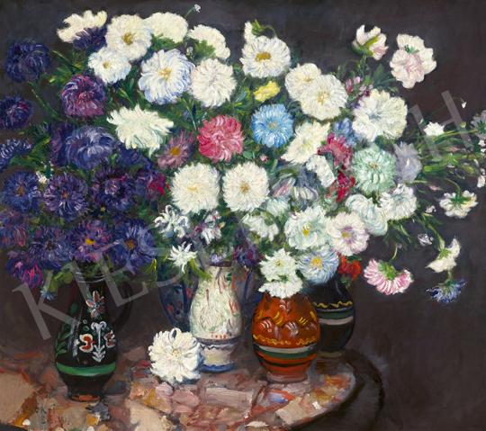 Csók István - Virágcsokrok a műteremben, 1917   63. Téli Aukció aukció / 68 tétel