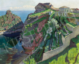 Vidovszky, Béla - Italian Seaside with Villa and Hanging Garden, c. 1916