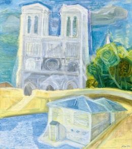 Szín, György - Parisian Seine Bank (Notre Dame)