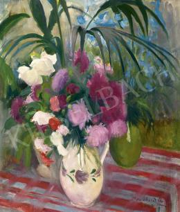 Benkhard Ágost - Télikert virágokkal, 1932