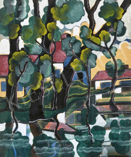 Scheiber, Hugó - Waterfront Landscape with Reflections