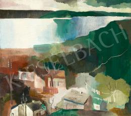 Peitler, István - Landscape with River (Landscape by Danube), c. 1930 - 2 Sides