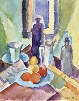 Kmetty, János - Table Still Life with Newspaper