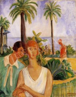 Walleshausen, Zsigmond - On the Beach of Nice