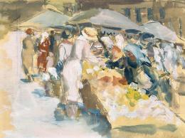 Morinyi Ödön - A bécsi Naschmarkt, 1943
