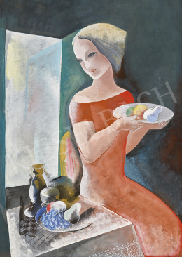 Kádár, Béla - Art deco Girl with Still-life