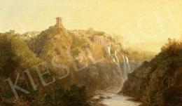 Telepy Károly - A Maecenas villa távoli képe (Villa Tivoli)