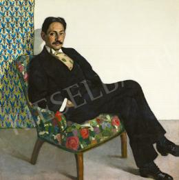 Kövér Gyula - Karosszékben ülő férfi, 1910-es évek