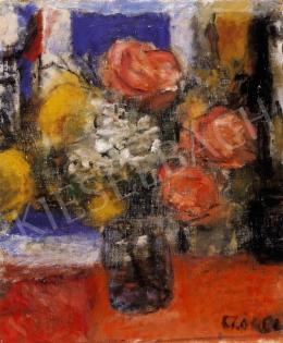 Czóbel Béla - Csendélet rózsákkal