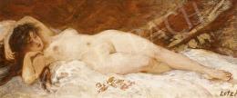 Lotz Károly - Fekvő női akt (Fiatalság)