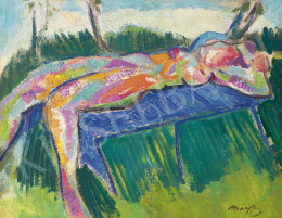 Márffy, Ödön - Lying Nude Woman (Model in the Nyergesújfalu Garden of Károly Kernstok's), 1908