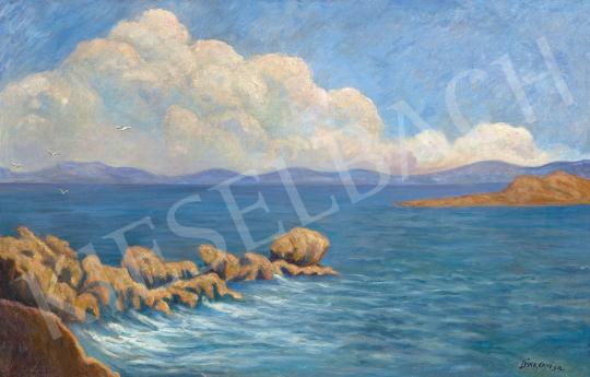 Bánk Ernő - Napsütéses Adria, 1912   63. Téli Aukció aukció / 181 tétel