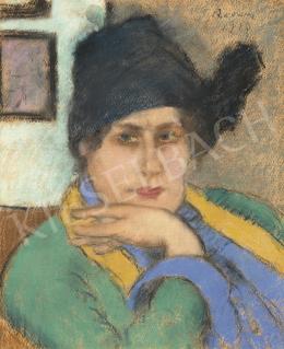 Rippl-Rónai József - Lazarine kalapban