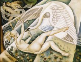 Beron, Gyula - Leda with a Swan