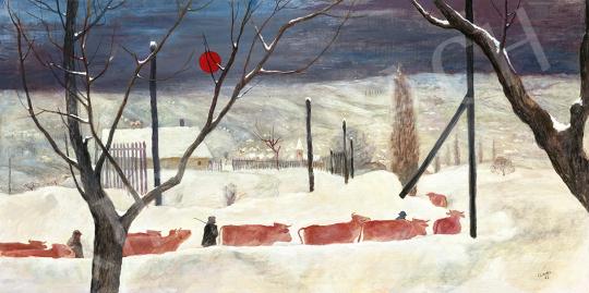 Cziráki Lajos - Téli hangulat (Behavazott táj), 1963 | 63. Téli Aukció aukció / 1 tétel