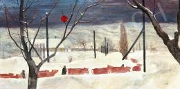 Cziráki Lajos - Téli hangulat (Behavazott táj), 1963