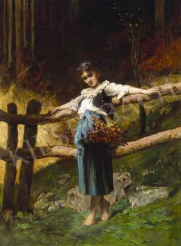 Ismeretlen közép-európai festő, 19. század vége - Kislány