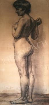 Soltész Albert - Álló női akt festménye