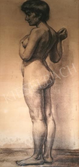 Soltész, Albert - Standing female nude