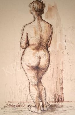 Soltész, Albert - Standing female nude, 1955