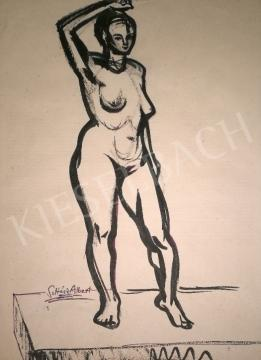 For sale  Soltész, Albert - Standing female nude 's painting