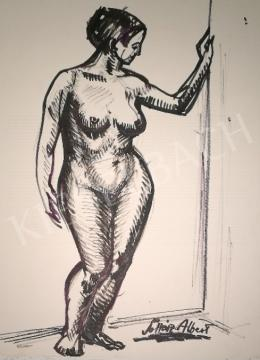For sale  Soltész, Albert - Leaning female nude 's painting