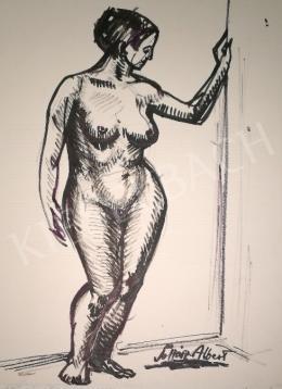 Soltész Albert - Támaszkodó női akt