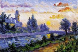 P. Kováts, Ferenc - Sunset in Nagybánya