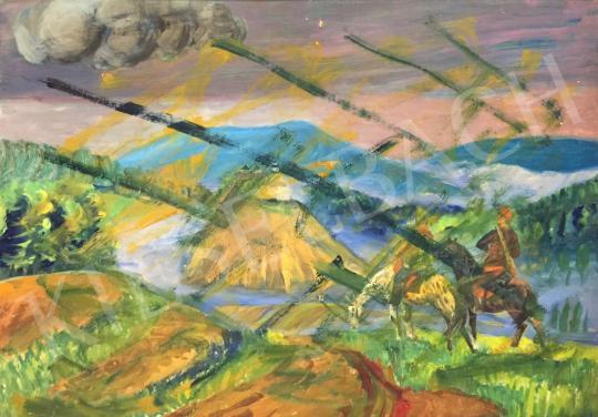 Eladó Tallós Prohászka István - Éjjeli táborozás 1919-ben vázlat  festménye