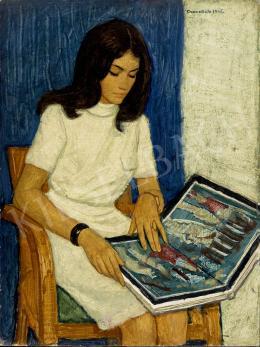 Czene, Béla jr. - Woman in yellow dress