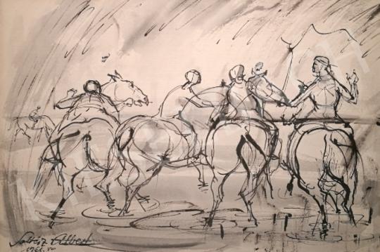 Soltész Albert - Lovasok, 1961 festménye