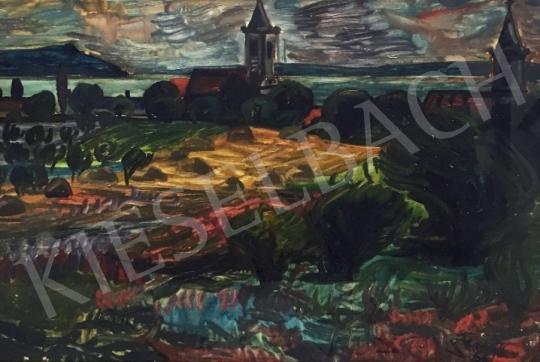 Eladó  Fenyő Andor - Rálátás a Balatonra, 1966 festménye