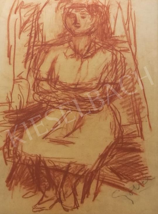 Eladó  Czóbel Béla - Várakozás festménye