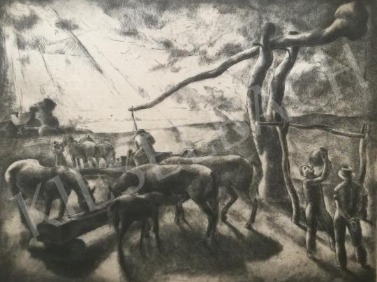 For sale  Patkó, Károly - Watering, 1928 's painting