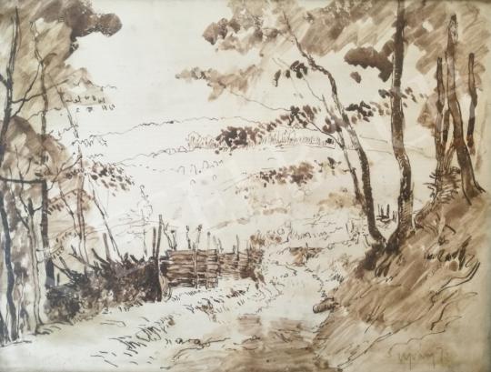 Eladó Ujváry Ignác - Erdei út festménye
