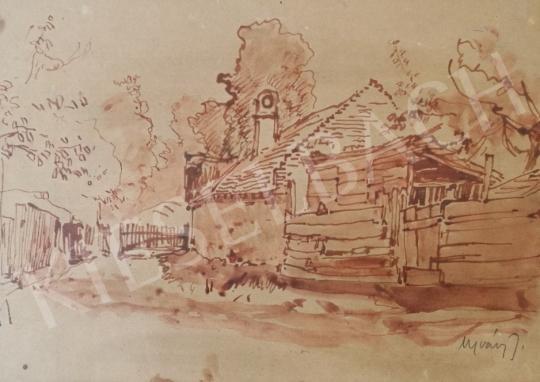 Eladó Ujváry Ignác - Tanyaudvar festménye