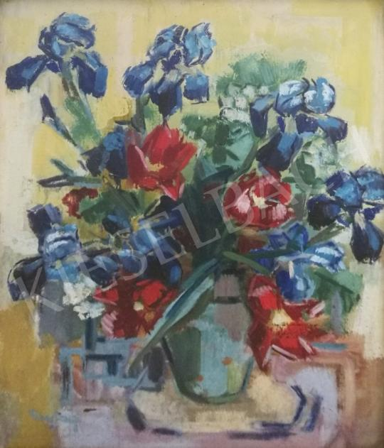 For sale Freytag, Zoltán - Flower still life with irises 's painting